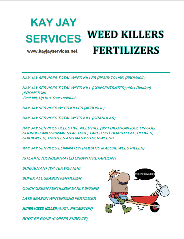 Weed Killers/Fertilizers  Flyer